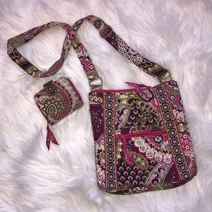Vera Bradley iconic hipster cross body and wallet